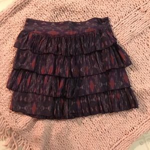 GAP Silk Blend Tiered Skirt